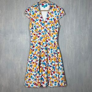 Modcloth Leaf and they will Follow shirt dress 6